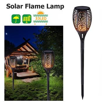 8pcs LED Solar Flame Lamp Flickering Outdoor IP65 Waterproof Landscape Yard Garden Light Path Lighting Torch Light digoo dg fle01 solar garden decoration led flame lamp landscape automatic waterproof atmosphere light for patio yard path light