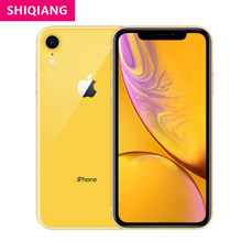Usado desbloqueado original apple iphone xr telefone 6.1in super retina hd display 64/128/256gb a12 ios smartphones de carregamento rápido