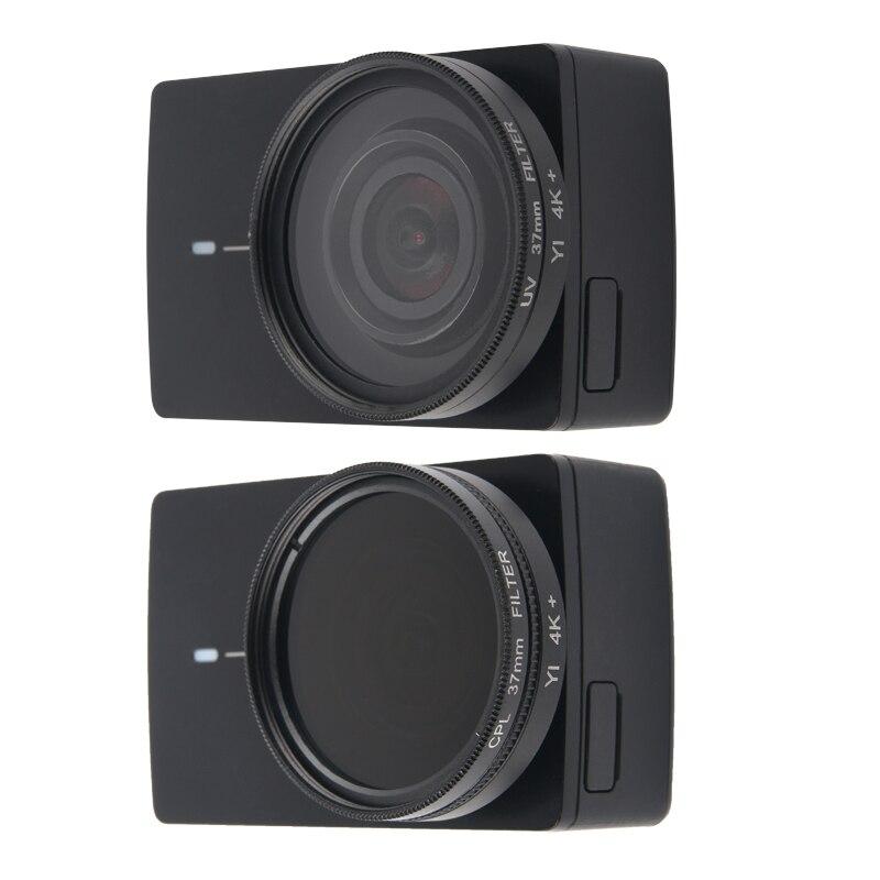 VKeyueDa for Xiaomi Xiaoyi Yi II Sport Action Camera Aluminum Alloy Housing Protective Case with Lens Protective Cap VKeyueDa Color : Dark Blue Black