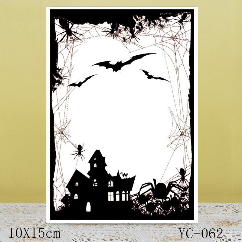 AZSG Horror Night Clear Stamps For DIY Scrapbooking/Card Making/Album Decorative Rubber Stamp Crafts