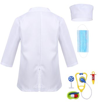 Children Birthday Gift Medical Uniform Hospital Kids Boys Doctor Girls Nurse Jacket Gown Cosplay Costumes Halloween Carnival 5