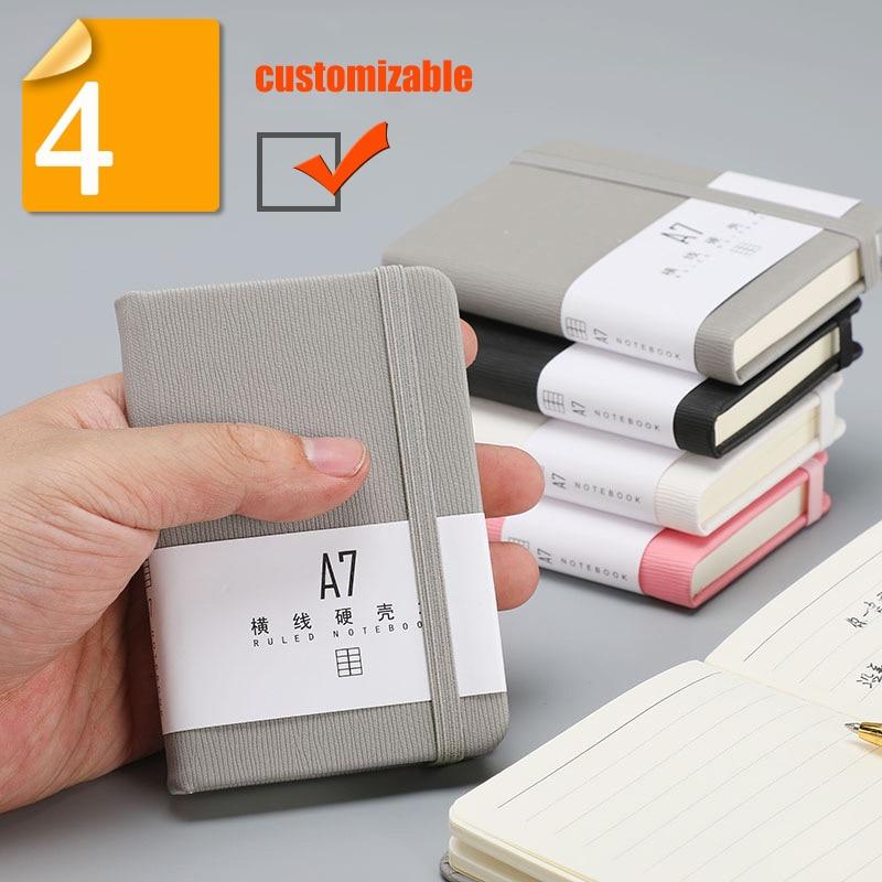 Портативный карманный блокнот А7, Мини Портативный деловой блокнот, канцелярские принадлежности, плотный блокнот, маленький женский блокно...