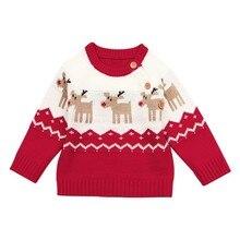 купить Winter Warm Baby Kids Pullover Sweaters Infant Boy Girl Christmas Elk Long Sleeve Knits Sweater Toddler Boys Girls Tops Clothes по цене 546.45 рублей