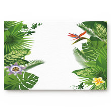 Leaves Green Banana Tree Tropical Plant Rainforest Flower Plant Bathroom Decor Rug Mat with Non Slip Rubber(China)