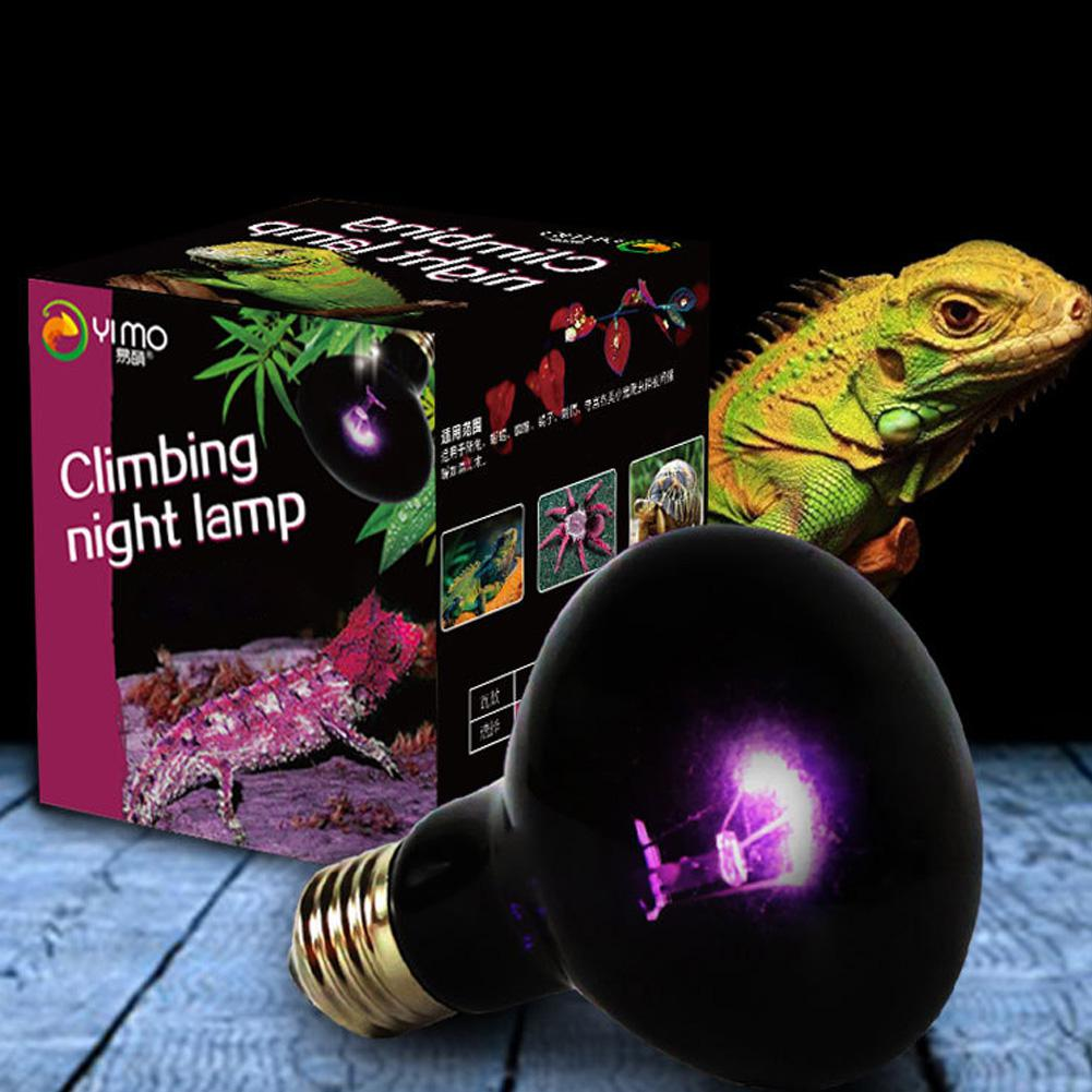 HiMISS Reptile Night Heating Lamp Bulb Imitation Moonlight Night Sleep Lighting Lamp For Lizard Snake Reptile Pets 220V E27