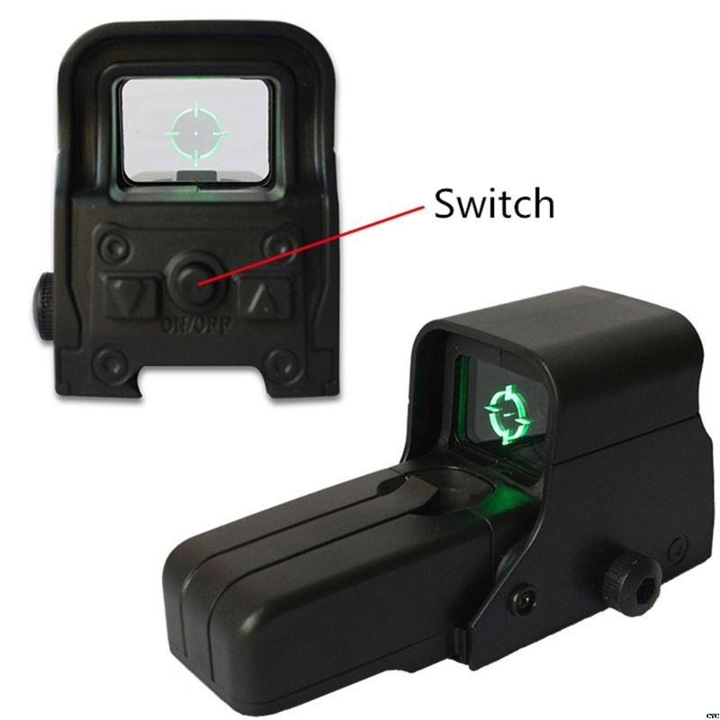 For Nerf Series Green Light Holographic Mirror Water Gun Accessories Optical Sight Reflex Sight Outdoor Hunting Sight