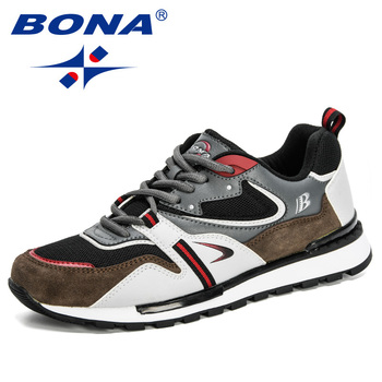 BONA 2020 New Designers Action Leather Sport Shoes Man Sneakers Running Men Tennis Male Walking Footwear Trendy Fitness - discount item  51% OFF Sneakers
