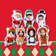 DIY to customize Christmas gift pillow cushion New Year decorative special-shaped