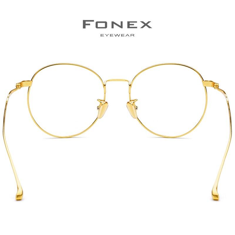 Puro B Marco de gafas de titanio mujeres 2018 ultraligero gafas de prescripción hombres gafas redondas miopía marcos ópticos gafas - 4