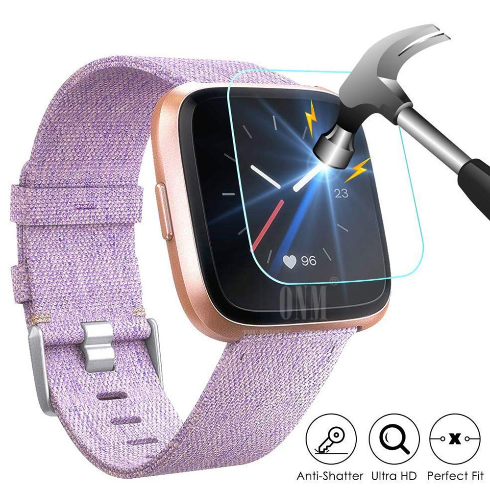 9H Premium Tempered Glass For Fitbit Versa & Versa Lite Smartwatch Screen Protector Film Accessories (Not For Versa 2)