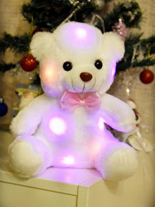 Toys Glowing Plush Birthday-Party Bears Light-Up Gift Baby-Girls Kids Children for 22cm