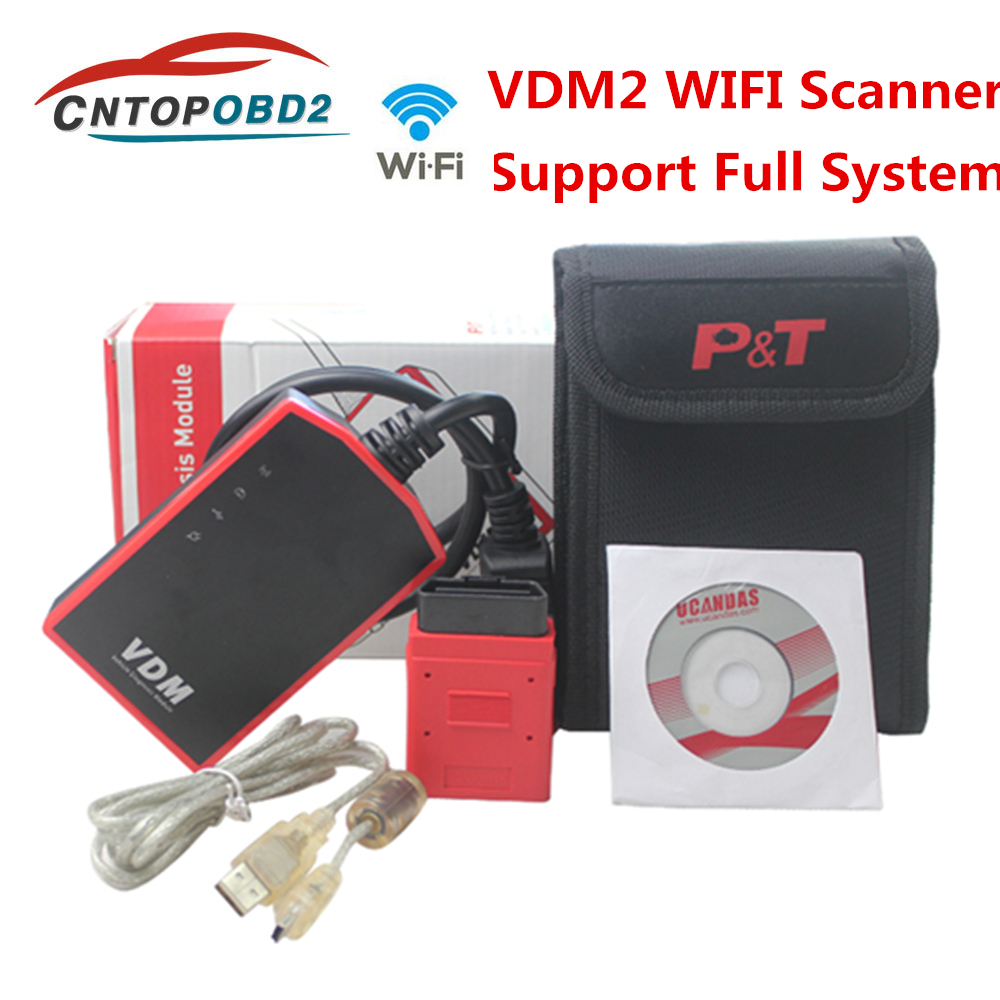UCANDAS VDM Wifi V3.9 Full System Automotive Scanner OBD2 VDM2 Diagnostic Tool Code Reader Online Update For Most Of Cars