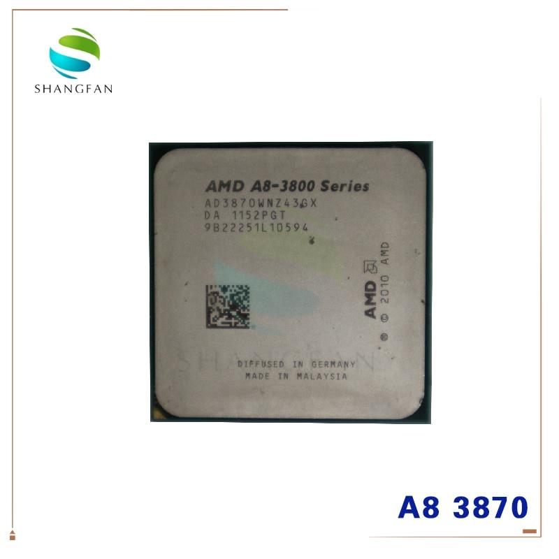 AMD A8 Series A8 3800 A8 3870 A8-3870 3GHz 100W Quad-Core CPU Processor AD3870WNZ43GX A8 3870K Socket FM1/ 905pin