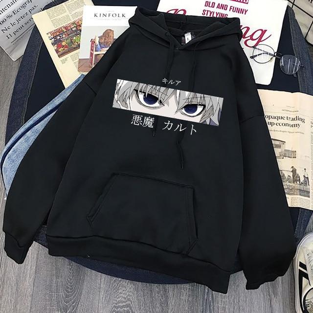 Cute Mens Hoodies Hunter X Hunter Men Women Pullovers Hoodies Sweatshirts Killua Zoldyck Hisoka 90s Anime Hoody Streetwear Tops 6