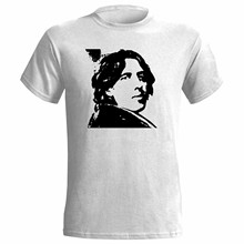 OSCAR WILDE PORTRAIT MENS T-SHIRT POET THEATRE AUTHOR NOVEL WRITER PLAYWRIGHT 2019 New Mens T Shirts(China)