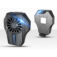 Ventilador de jogo recarregável, ventilador de celular para telefone móvel de refrigeração universal, radiador semicondutor, com ventilador silencioso