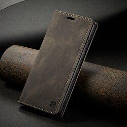 Forte magnético retro cartão titular caso para xiaomi redmi nota 8 pro capa de telefone de couro livro de luxo com rfid bloqueio material