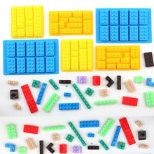 1PCS 10Hole Lego Brick Blocks Shaped Rectangular DIY Chocolate Silicone Mold Ice Cube Tray Cake Tools Fondant Moulds