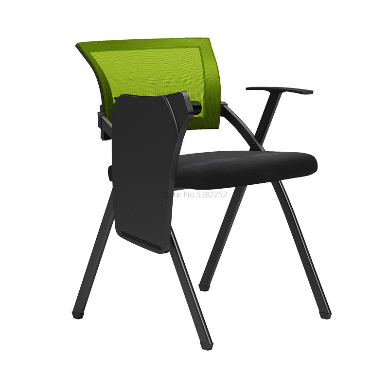 Training Chair With Writing Board Folding Chair With Wheelwithed Table Board Student Back Chair Office Chair Meeting Chair