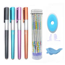 26Pcs/lot Kawaii Erasable Pen Refill Set Rods 0.5mm Cute Erasable Gel Pen Blue Ink Refill for Office School Supplies