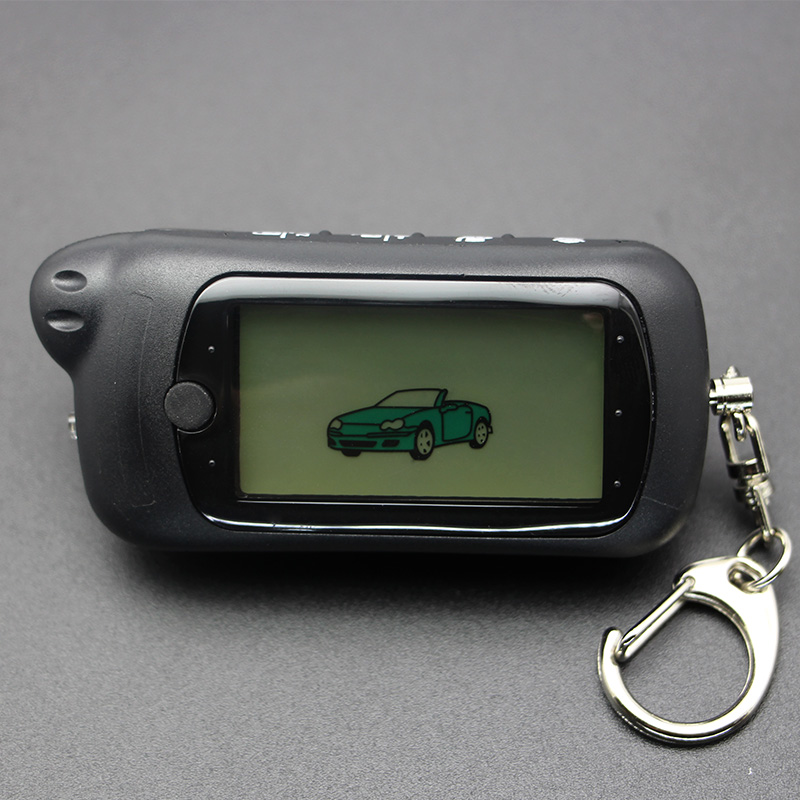 New arrival RU Z5 car remote control key fob for Russian Tomahawk Z5 Z3 lcd remote two way car alarm system Burglar Alarm     - title=
