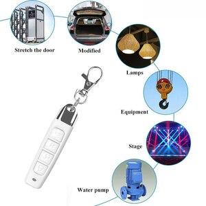 Image 3 - 433MHz אלחוטי שלט רחוק עם מפתח שרשרת שיבוט מעתק 4 כפתורים חשמלי נייד להעתיק בקר עבור מוסך דלת
