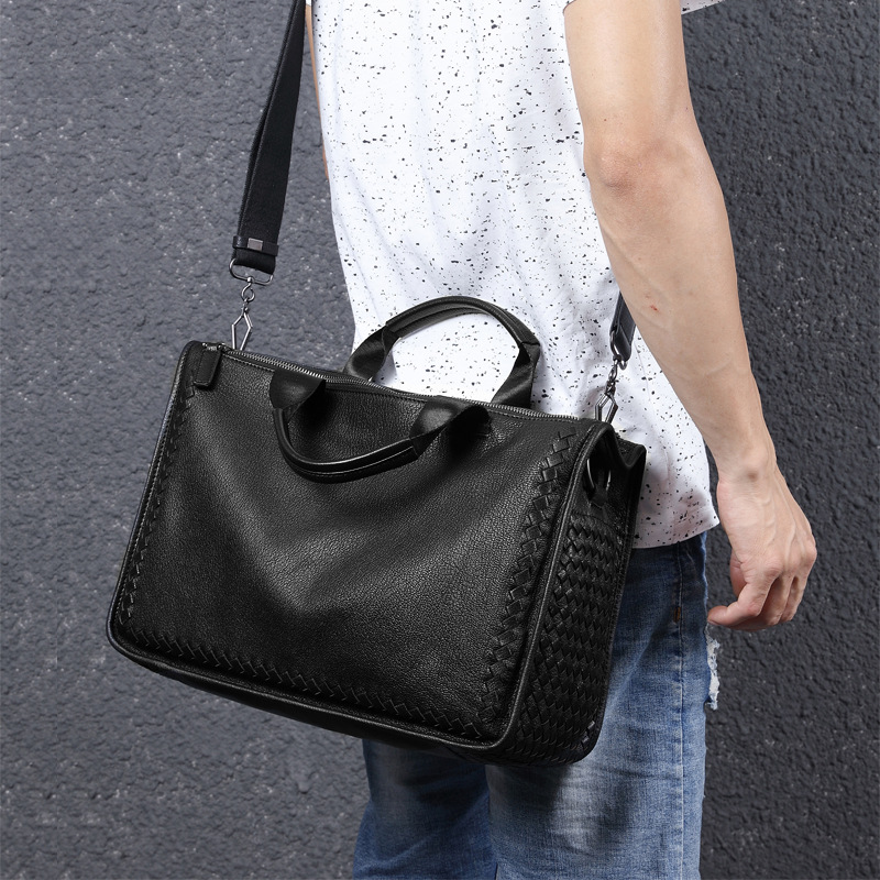 Fashion Genuine Leather Bag Cow Leather Business Men Messenger Bags Luxury Brand Men Briefcases New Designer Male Laptop Handbag