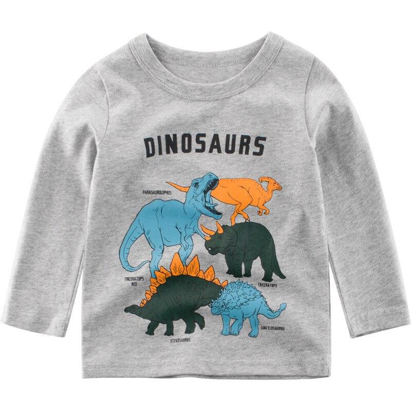 Kids Long-Sleeve Little-Boys' Sweatshirt Tops Pullover Dinosaur Cotton for 2-10-Years