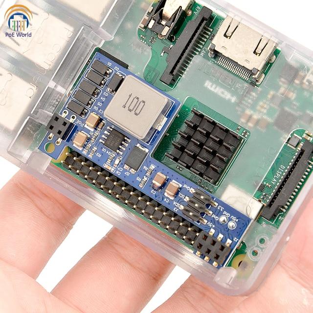 PoE Welt Raspberry Pi 4 4B 3B + 3B Plus Power Over Ethernet PoE HUT IEEE 802,3 af DC 5V 2A