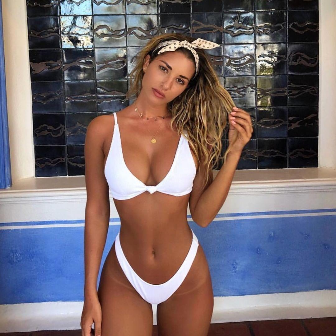 Summer Girls Sexy Bikini Sets Padded Bra Thong Bottoms Swimwear Set Swimwears Costume Hot Sales