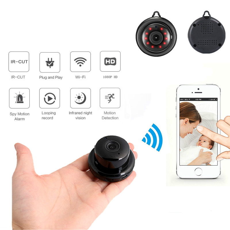 CCTV Infrared Night Vision Motion Detection SD Card Slot Audio APP Wsdcam Home Security MINI WIFI 1080P IP Camera Wireless Small