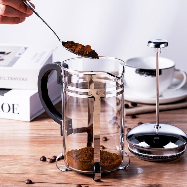 350/600/1000ml Coffee Tea Pot Manual French Presses Pot Coffee Maker Filter Pot Cafetera Expreso Percolator Tool Tea Filter Cup 4