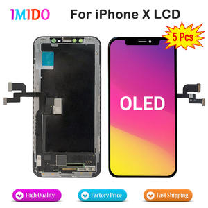 5Pcs/Lot AMOLED Latest LCD For iPhone X Display OEM 3D Touch Screen Digitizer Assembly Replacement Parts Black Free DHL EMS