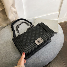 Bag Female 2019 New Rhombic Chain Fashion Flip Shoulder Messenger Handbags Wholesale