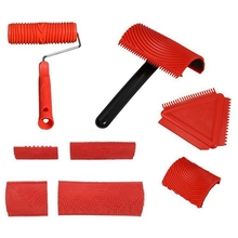 Wood-Graining-Tool-Set Rubber Wall-Painting Decoration for DIY 8pcs