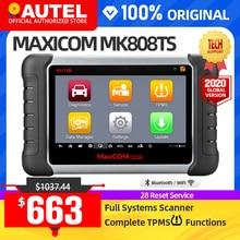 AUTEL MaxiCOM MK808TS TPMS automotive diagnostic tool TPMS programmierung werkzeug reifen druck werkzeug obd2 scanner pk mp808ts mk808bt