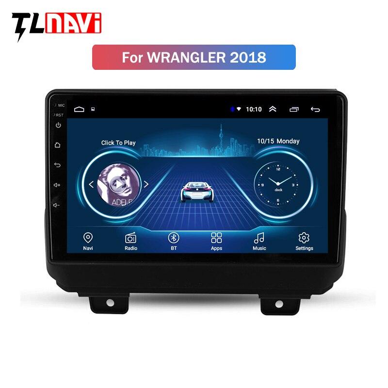 Für Jeep Wrangler 4 JL 2018 2019 Auto Radio Multimedia Video Player Navigation GPS Android 8.1 Keine 2din 2 din dvd