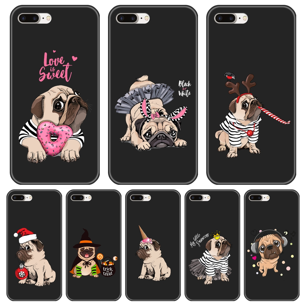 Phone Cover For Apple <font><b>iPhone</b></font> 6 S 6S 7 8 X XR XS Max <font><b>Case</b></font> Silicone Pud Dog Christmas Soft For <font><b>iPhone</b></font> 6 S 6S 7 8 Plus Phone <font><b>Case</b></font> image