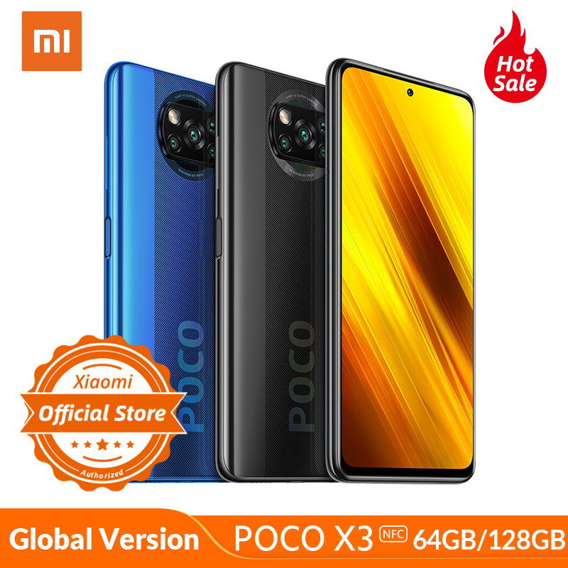 POCO X3 NFC Global Version Xiaomi Smartphone Snapdragon 732G MIUI12 64MP Camera 5160mAh 33W Charge 120Hz