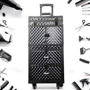 Image 3 - Coiffure professionnelle bagage roulant boite a outils Salon de coiffure chariot valise Salon de beauté grand tiroir boite a outils