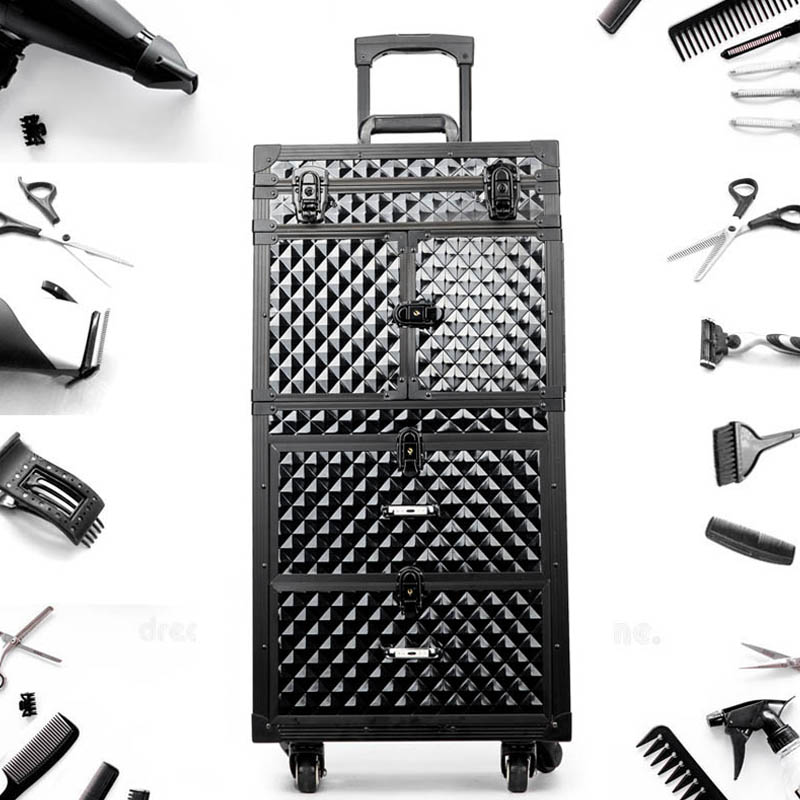Image 3 - Professional Hairdressing rolling luggage Toolbox Salon Hairdresser trolley suitcase Beauty Salon Large Drawer ToolboxRolling Luggage   -