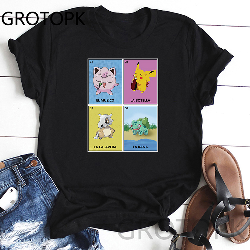 Jigglypuff Funny T Shirts Women Summer Fashion Print Tshirt Casual Short Sleeve O-Neck T-Shirt Top Tees Wholesale