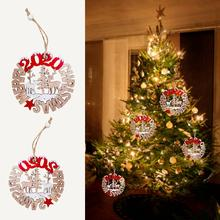 Christmas Decorations 2020 Merry Wooden Openwork Letters Innovative Closet Pendants