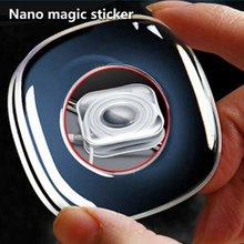 Без следа нано наклейки волшебные случайные пасты резиновый