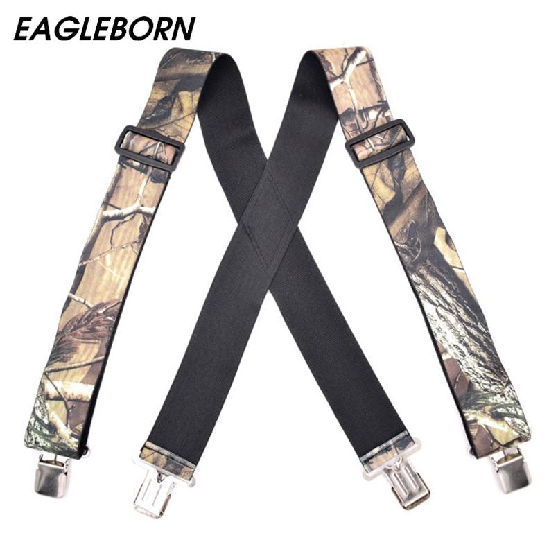 2020 Suspenders Camouflage Suspenders Braces Vintage Outdoor Straps Bretelles Adult 4clips Widening Suspensorio Tirantes 5*125cm