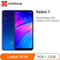 "ROM globale Xiaomi Redmi 7 3GB 32GB Smartphone Snapdragon 632 Octa Core 6.26 ""plein écran 12MP 4000mAh batterie multi-langue"