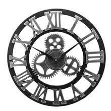 Horloge murale décorative de Style industriel (livraison en argent sans batterie)