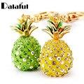 Dalaful Tropical Obst Ananas Kristall Schlüsselanhänger Geldbörse Tasche Anhänger Für Auto Schlüsselanhänger High-grade Geschenk schlüssel ketten halter K231