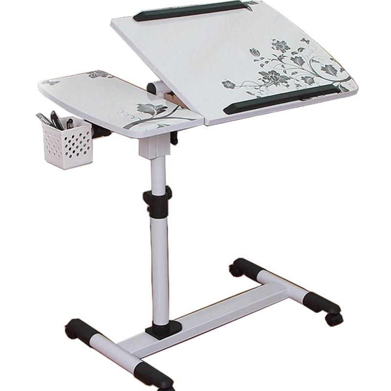 M8 New Lifting Mobile Notebook Table Computer Desk Bedside Sofa Bed Learning Desk Folding Laptop Table Adjustable Table