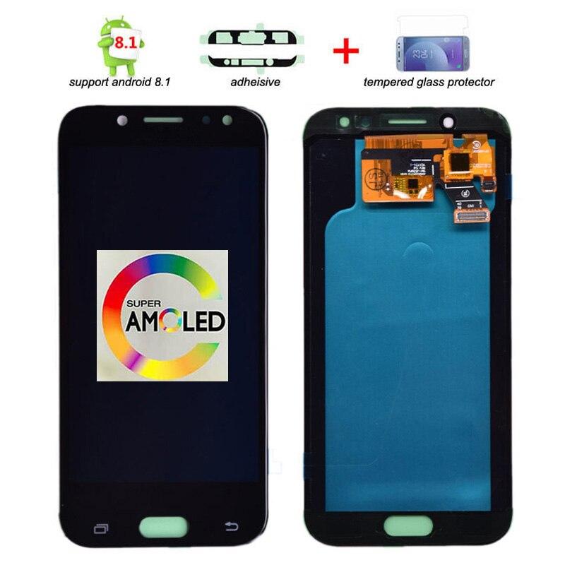 100% Super Amoled LCD pour Samsung Galaxy J5 2017 J530 J530F AMOLED LCD écran tactile numériseur assemblée livraison gratuite